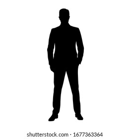Man Silhouette Images Stock Photos Vectors Shutterstock 345 × 1312 px file format: https www shutterstock com image vector businesmann suit standing hand pocket front 1677363364
