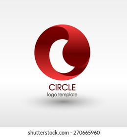 Business Abstract Circle icon. Corporate, Media, Technology styles vector logo design template. EPS 10