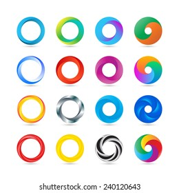 Business Abstract Circle logo icon. Corporate, Media, Technology styles vector design