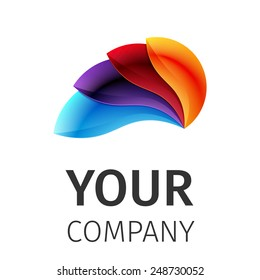 Business Abstract colorful logo on white background, excellent vector illustration, EPS 10