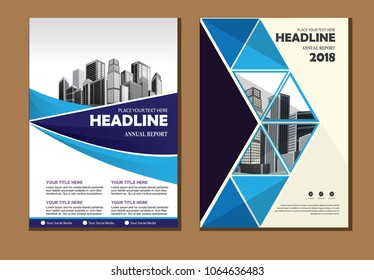Business abstract vector template. Brochure design, cover modern layout, annual report, poster, flyer in A4 with colourfull triangles, geometric shapes for tech, science, market with light background