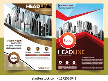 Business abstract vector template Brochure design cover modern layout annual report poster flyer in A4 with colorful triangles geometric shapes for tech science market with light back