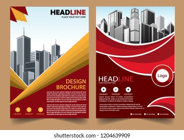 Business abstract vector template Brochure design cover modern layout annual report poster flyer in A4 with colorful triangles geometric shapes for tech science market with light background