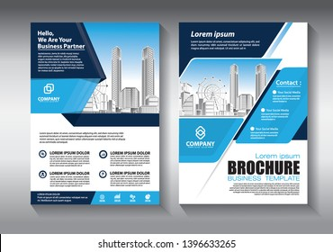 Business abstract vector template. Brochure design, cover modern layout, annual report, poster, flyer in A4 with colorful geometric shapes for tech, science, market with light background