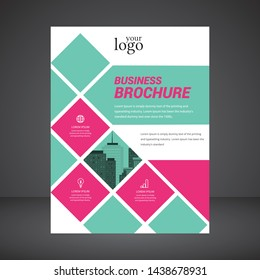Business abstract vector template. Brochure design, cover modern layout, annual report, poster, flyer in A4 with colorful geometric shapes for tech,