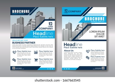 Business abstract vector template. Brochure design, cover modern layout,poster, flyer with colorful triangles.
