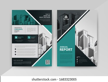 Business abstract vector template for Brochure, AnnualReport, Magazine, Poster, Corporate Presentation, Portfolio, Flyer, infographic with blue and black color size A4, Front and back. Vector