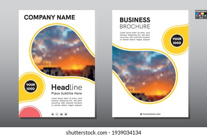 Business abstract vector template for Brochure, Annual Report, Magazine, Poster, Corporate Presentation, Portfolio, Flyer, size A4, Vector.