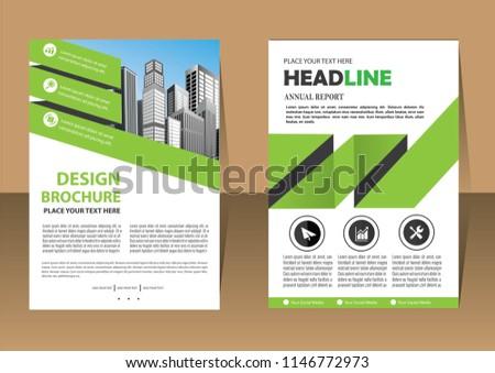 business abstract vector template brochure design stock vector