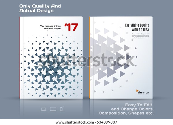 Business abstract vector template. Brochure design, cover modern layout, annual report, poster, flyer in A4 with grey geometric shapes for tech, science, market with light background.