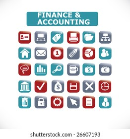 business and accounting icon set 30 vol. 16 - vector, easy edit
