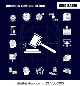 Business Administration Solid Glyph Icons Set For Infographics, Mobile UX\u002FUI Kit And Print Design. Include: Document, File, Calculator, Text, Document, Profile, Cv, Time, Collection Modern Infographic