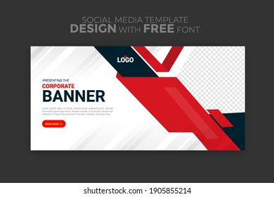 business ads banner template. background-color with stripe line shape. Suitable for social media stories post and web mobile ads. Vector with photo.