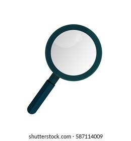 Business analysis, search  symbol, magnifying glass isolated on a background, icon. Vector illustration