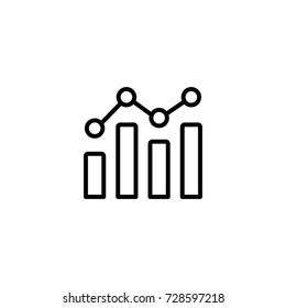 business analystic infographic diagram line black icon