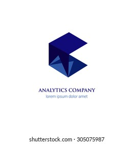 Business analytics corporate company blue abstract logo design