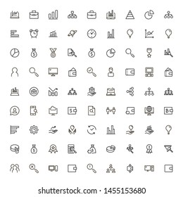 Business analytics line icon set. Collection of high quality black outline logo for web site design and mobile apps. Vector illustration on a white background