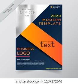 Business annual report brochure flayer design template vector, modern publication poster magazine, stock vector