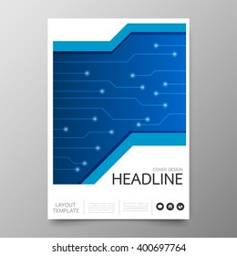 Business annual report cover template design.Geometric technology abstract background.Layout in A4 size