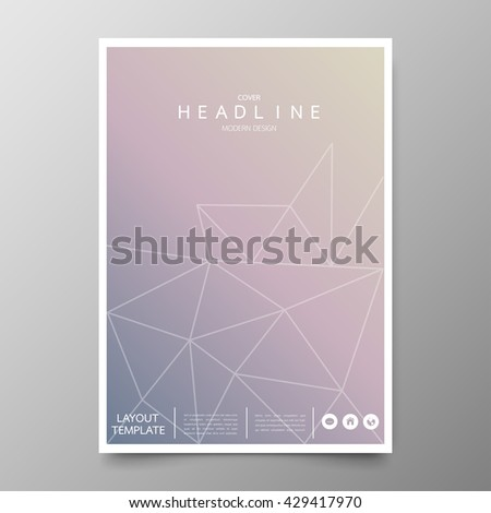Business annual report cover template design geometric stock vector business annual report cover template designometric triangle abstract backgroundyout in a4 size flashek Gallery