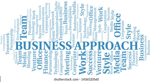 Business Approach word cloud. Collage made with text only.
