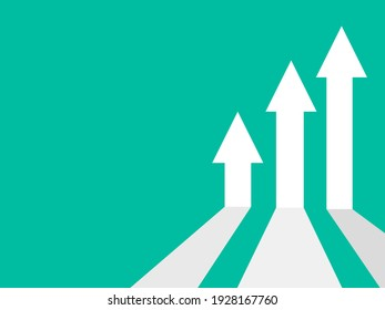 business arrow target direction concept to success. Finance growth vector