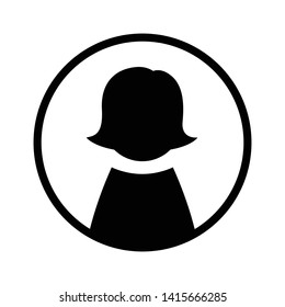Business avatar woman icon profile symbol isolated for web and mobile eps 10
