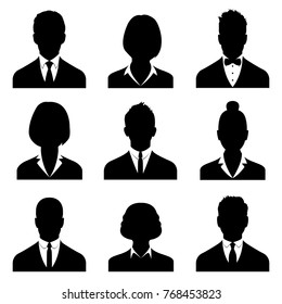 Business avatars , profile icons set