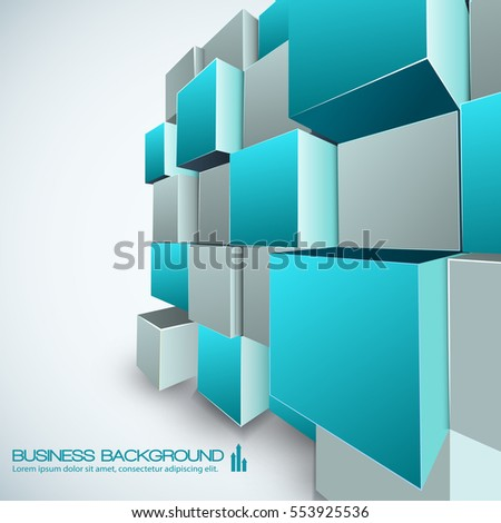 Business background creative template contemporary web stock vector business background creative template for contemporary web design with isometric construction composed from cubes vector illustration accmission Image collections