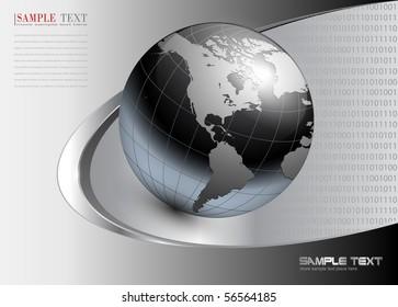business background dynamic grey. Vector illustration.