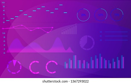 Business background, information charts and graphs elements, smooth pattern, blank for text or logo.