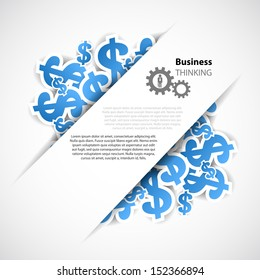 business background with symbol of business and dollar