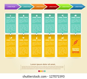 Business background vector hanging  / loop business report or plan / modern template / education template / business brochure