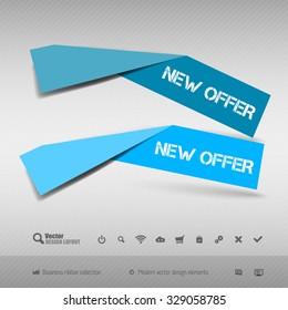 Business banner for infographic, web design, apps. Vector design elements.