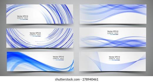Business banner set vector