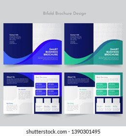 business bifold brochure design template