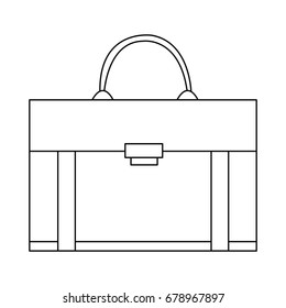 business briefcase for travelling flat icon modern