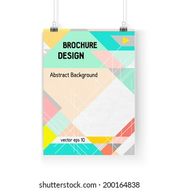 Business brochure background. Layer template , vector