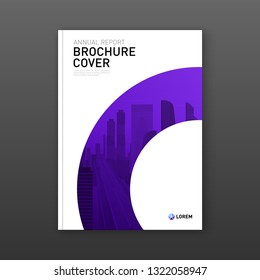 Business brochure cover design layout. Good for real estate catalog, annual report, poster, flyer, company profile cover
