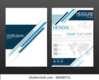 business brochure cover design template vector.technology speed abstract background.layout in A4 size
