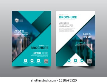 Business Brochure Cover Layout Template Design. Fold leaflet, Magazine, Annual report, Book Cover, Flat style vector illustration artwork A4 size.
