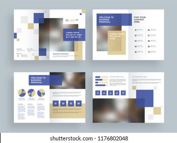 Business brochure cover pages design.