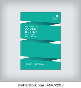 Business brochure cover template layout design book annual report flyer presentation abstract flat background in A4 with green geometric shapes bar line vector.