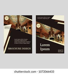 Business Brochure Covers Set. Flyer Template. Cover Book and Magazine. Vector illustration. Can be use for journal, composition, cover, book, flyer,  annual report. Vector illustration. EPS10