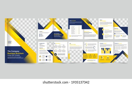Business Brochure creative design Multipurpose template with back and inside pages.