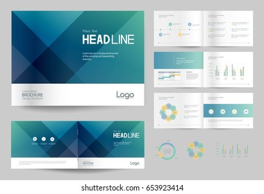 business brochure design template and page layout for company profile, annual report,with page cover design and info graphic  element