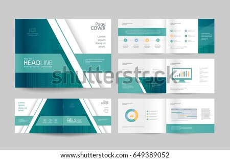 business brochure design template page layout のベクター画像素材