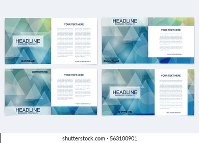 Business brochure design template. Vector flyer layout, abstract colorful polygonal background, leaflet, cover, poster