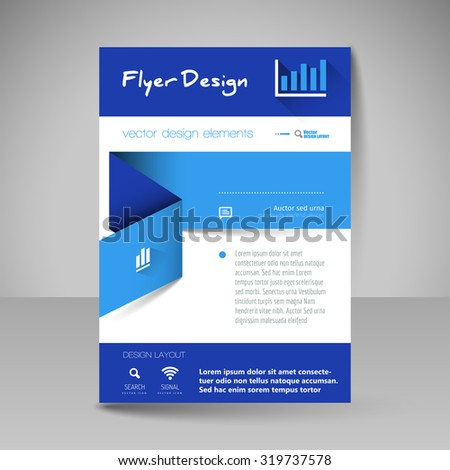 business brochure editable a 4 poster design stock vector royalty