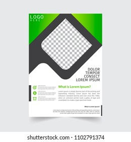 Business Brochure. Flayer Design. Cover Book and Magazine. Annual Report Vector illustration